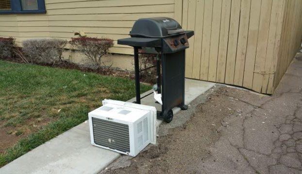 bbq grill ac unit haul away