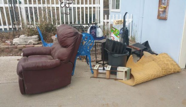before junk furniture trash removal 79